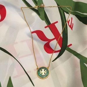 🛍Tory Burch Green Malachite Necklace